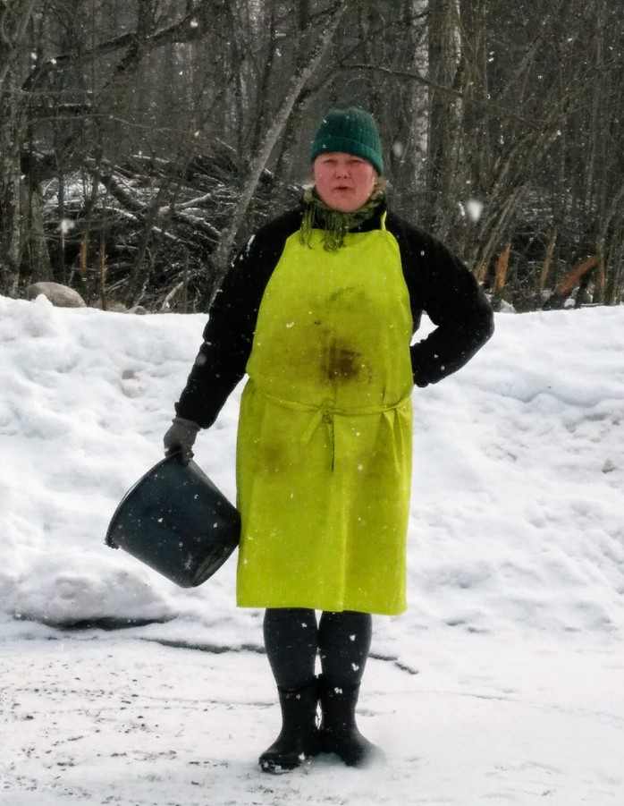 Åsa i snön
